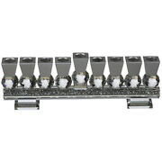 Crystal Menorah With Base Home Decor Hanukkah Candle Traditional Style 27x9cm