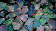 4-11mm Ethiopian Opal Rough Lot Natural Multi Flashing Untreated Gemstone Hy06