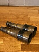 Large Antique Two Draw Brass Binoculars Double Extendable. Circa 1900