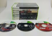 Lot Of 9 Xbox 360 Games Skyrim Battlefield Halo 3 And 4 Nba Live 2k Ufc Undisputed