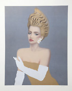 Razzia Lady In Gold Lithograph With Gold Paint Signed And Numbered In Pencil