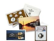 2020 Proof Set With First W Mint Nickel - Ngc Pf69uc Portrait Label