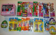 All Unused Different Pez Dispensers And Candy Easter Eggs Hello Kitty Petz