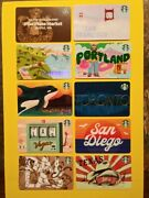 Starbucks Gift Cards 2019/2020 10 City/ State Cards Vhtf🔥new🔥no Value