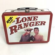The Lone Ranger Metal Lunch Box With 2 Dvd's 2009 Silver Horse Tonto Western