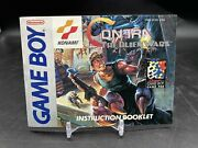 Contra The Alien Wars Gameboy Manual Only 100 Original Very Good