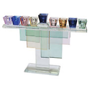 Crystal Menorah Multicolored Gift Accent Home Decor Traditional Style 28x20cm