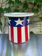 C. 1973 Rare Mccoy Uncle Samand039s Hat Cookie Jar Vintage Made In Usa