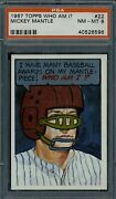 1967 Topps Who Am I Mickey Mantle 22 Psa 8 Nm-mt