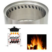Folding Stainless Wood Stove Outdoor Portable Camping Picnic Hiking Bur-ner Z7p6