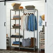 Better Homes And Gardens Farmhouse Grey Wood And Metal Garment Rack