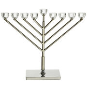 Menorah With Crystal Design Traditional Style Home Decor Metal Gift Candle 40cm