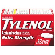 Tylenol Extra Strength 500 Mg Caplets 24 Ct Wholesale Lot Of 72