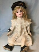 24 Antique French Bisque Closed Mouth Bebe Doll By Rd Rabery And Delphieu