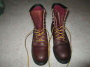 Vintage Red Wing 4412 Steel Toe Work Boots, Vg, Size 12b, Free Shipping