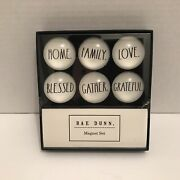 Rae Dunn Magnet Home Family Love Blessed Gather Grateful Six Glass Dome New