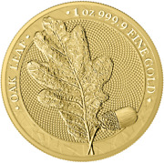 Oak Leaf Gold Germania 100 Mark Bu 1 Oz Ounce With Certificate And Box