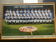 New York Yankees/1961 Ws Champs Team Signed 32 Autos/plus Lewis/poster.