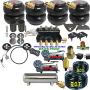 Air Suspension Kit-complete Coils Front And Rear Air Ride Dual Dc480 5 Gal Ss