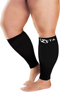 Zeta Sleeve Xxl Wide Plus Size Calf Compression, Soothing Comfy Gradient Support