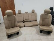 17-20 F150 Lariat Crew Tan Leather Power Front And Back Seats Factory Oem