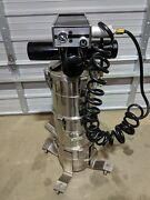 Portable Stainless Steel Dust Collector W/ Piab Mll400 Mki Pneumatic Vacuum Pump