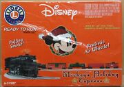 Lionel 31987 Mickeyand039s Holiday Express Christmas Train Set - O-gauge Fac Sealed
