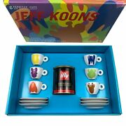 Jeff Koons Illy Collection 2001 Espresso Cups Original Packaging Complete Set