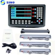 Sino Sds2-3va 3 Axis Lcd Digital Readout And 3 Pieces Ka-300 Glass Linear Scale