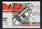 1926 Selb Germany Rapa Universal Rausch And Pausch Illustrated Radio Advertising