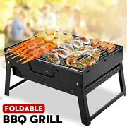 Mini Bbq Grill 35x27x20cm Folding Lightweight Portable Barbeque Charcoal Outdoor
