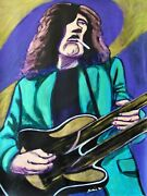 Jimmy Page Print Poster Led Zeppelin The Yardbirds Ovation Double Neck Guitar