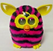 2013 Hasbro Pink And Black Furby Boom, Instructions, Stickers And Box - Euc