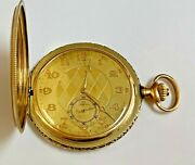Rare Find Omega Pocket Watch 14k Solid Yellow Gold Swiss Made