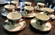 Franciscan Apple 8 Teacups And 8 Plates Usa Stamp