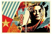 Shepard Fairey Obey Welcome Visitors 2 Print Set Signed Numbered Screen Prints