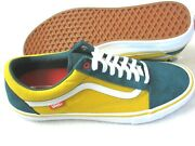 Mens Old Skool Pro Prime Atlantic Gold Yellow Green Skate Shoes Size 10.5