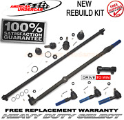 Hd Drag Link Tie Rod End Ball Joint Sleeve Kit Jeep Wrangler 97-06