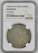 1802 Spb Ai Russia 1 Rouble Alexander L Silver Coin Ngc Au Details Cleaned.