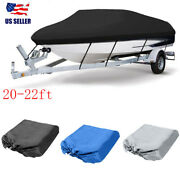 20-22ft 600d Oxford Fabric High Quality Waterproof Boat Cover With Storage Bag