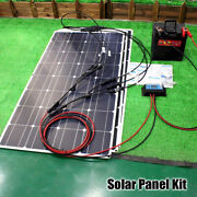 Solar Panel Kit 12v Flexible 100w 200w 300w Panels With Controller For Boat Car