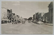 Waverly Ia Iowa Bremer Rppc Photo Postcard, Stores, Antique Cars, Readable Signs