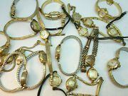 Bulova And Caravelle Vintage Lot Of Ladies Watches Mostly Running To Restore