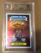 2013 Garbage Pail Kids Chrome Series 1 Adam Bomb 8a Bgs 10 .5 From Black Label
