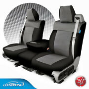 Coverking Carbon Fiber Print Neosupreme Tailored Seat Covers For Chevy Silverado