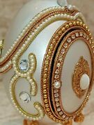 Easter Ornament Set Faberge Egg Jewelry Box Gift Only One Handmde Music 24k Gold