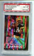 2005 Bowmanand039s Best Aaron Rodgers Auto Rc 13/199 Psa 8 Nm-mt Packers