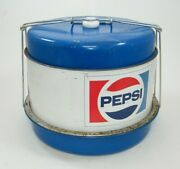 Vintage Pepsi Cola Metal Cake Carrier With Tray 10 X 12