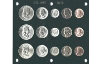 1953 P-d-s Us Mint Set-15 Coins- Brilliant Uncirculated In Black Capital Holder