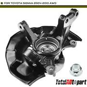 Front Driver Wheel Bearing Hub Knuckle Assembly For Toyota Sienna 2004-2010 Awd